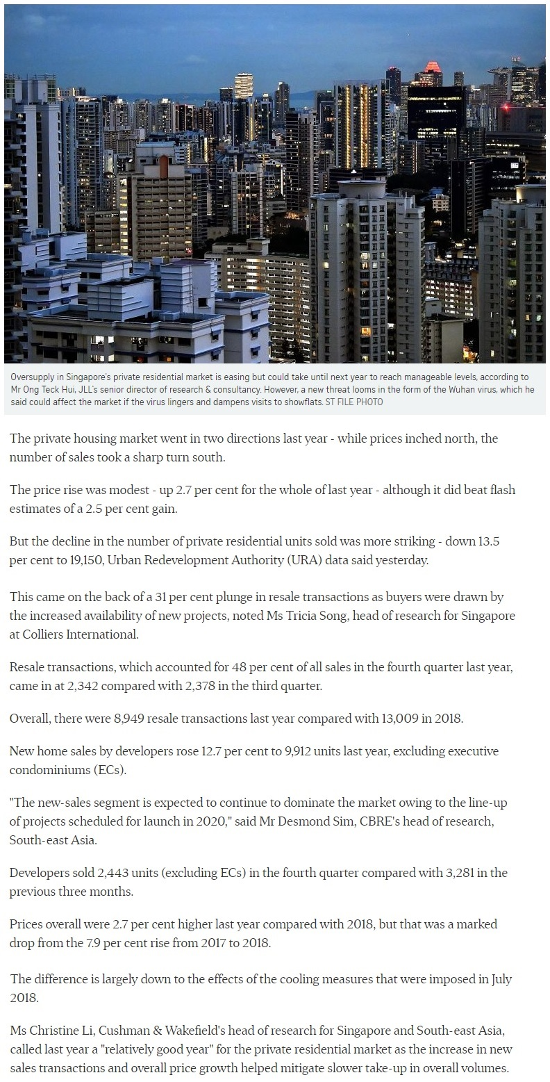 The Gazania - Singapore private home prices inch up 2.7% for 2019 Part 1