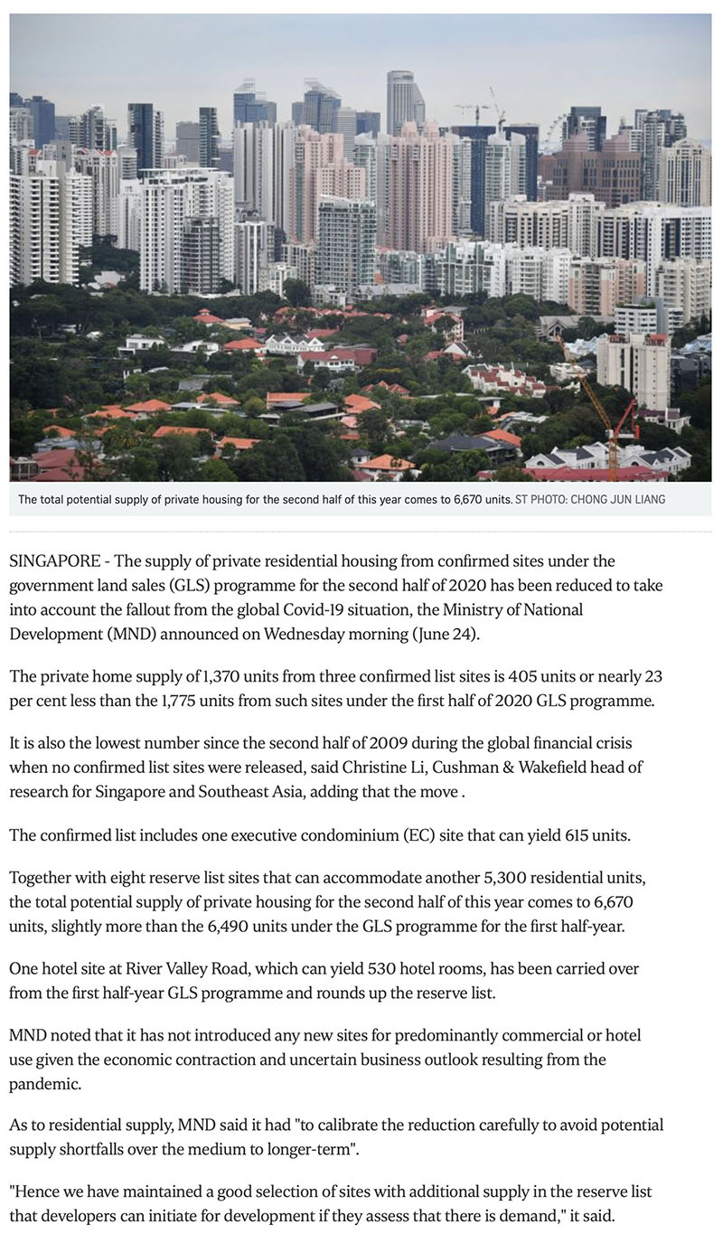 The Gazania - Govt cuts private housing supply from confirmed land sale sites due to Covid-19 fallout -1