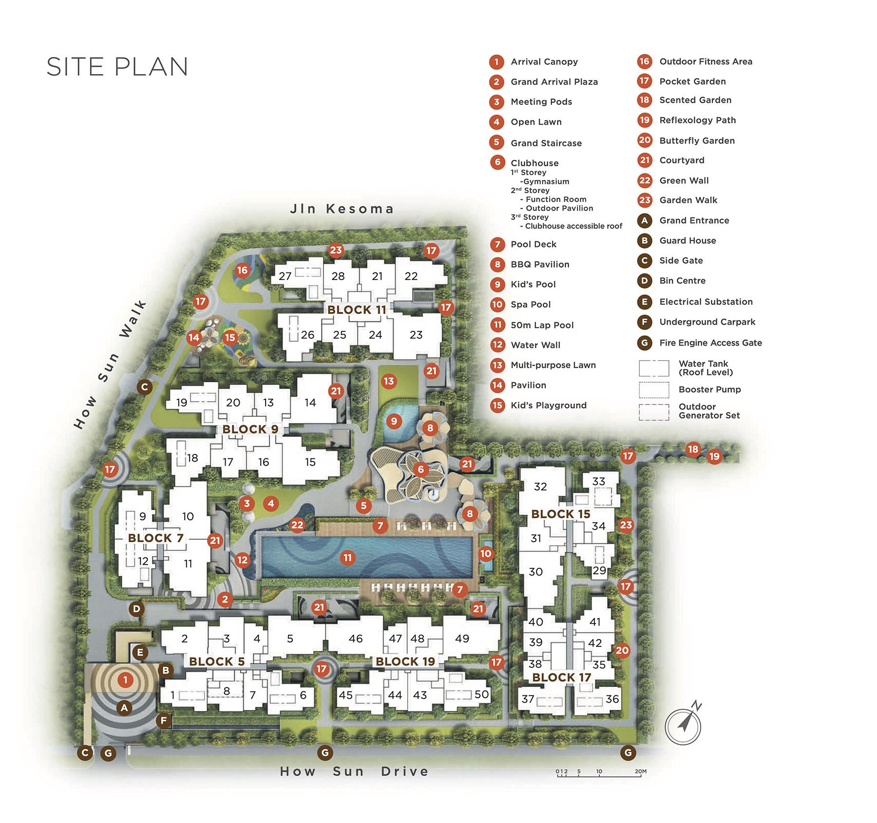 The Gazania Site Plan Singapore